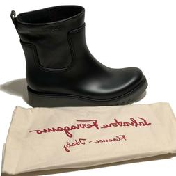 Salvatore Ferragamo Men's Leather and Rubber Luxury Rain Str
