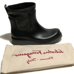 Salvatore Ferragamo Men's Leather and Rubber Luxury Rain Str