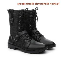 Men's Leather Casual Boots Tactical Army Military Motorcycle