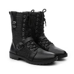 Men's leather Casual Martin Boots Motorcycle Knight Tactical