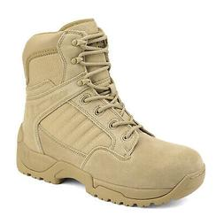 Men's Military Tactical Work Hiking Boots Side Zip Ankle Mot