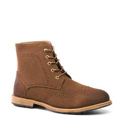 Men's Motorcycle Boots Lace Up Suede Chukka Dress Derby Boot
