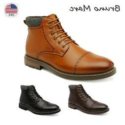 Bruno Marc Men's Motorcycle Combat Boots  Dress Ankle Boots