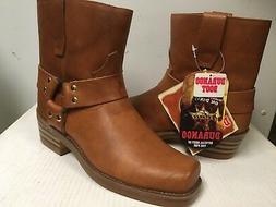 Durango men's Motorcycle Short Boots Tan square toe DB715  S
