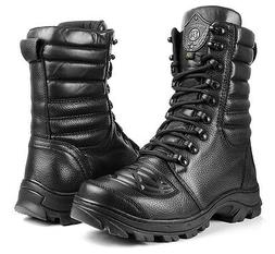 Tactical Boots Motorcycle Leather Mens Special Forces Milita