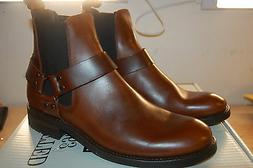 FRYE Men's Stone Harness Chelsea Motorcycle Boot Leather NIB