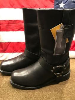 Bates Men's Tahoe Motorcycle Boot, Black, W/ Harness 9.5M US