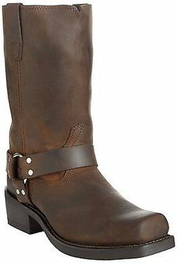 Durango Men's Tall Motorcycle Harness Boots Distressed Brown