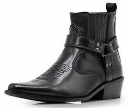 Alberto Fellini Men's Western Cowboy Boots  Black 9.5 M US