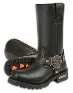 Milwaukee Leather Men's Wide Classic Motorcycle Harness Boot