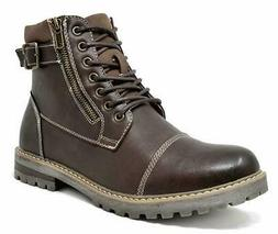 Men's Winter Motorcycle Work Lace Up  Boots Combat Oxford Sh
