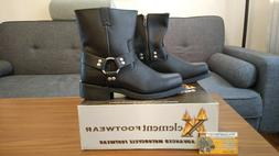 Xelement Men's Zipper Up Harness Motorcycle Boots Size 9. LU