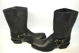 Ariat Men's Black Leather RAMBLER Motorcycle Harness Boots