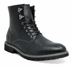 Bruno Marc Mens Lace Up Motorcycle Combat Boots Oxford Leath