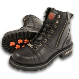 MENS MILWAUKEE MOTORCYCLE BIKER WATERPROOF WIDE BOOTS SHOES