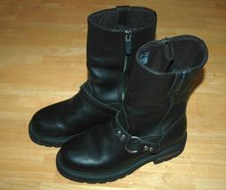 Ariat Men's Motorcycle Boots Black Leather Harness METAL M