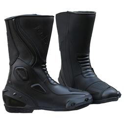 Mens Motorcycle Leather Athletic Touring Sports Riding Boots