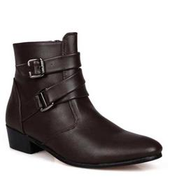 Mens Pointed toes Leather Ankle Boots Military Tactical Casu