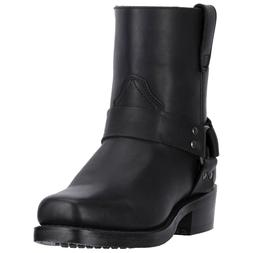"""DINGO MENS SIDE ZIP  7"""" HARNESS STYLE MOTORCYCLE BOOTS DI190"""