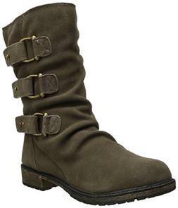 Skechers Mid 3 Buckle Ruched Boot