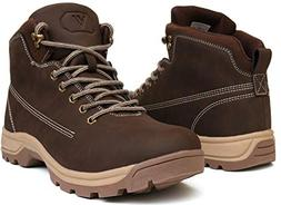 WHITIN Men's Mid Soft Toe Leather Insulated Work Boots Const