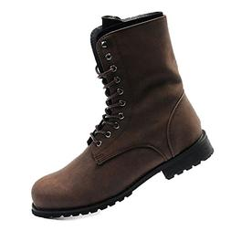 VFDB Men Military Combat Boots - Foldable Cuff Lace Up Boots
