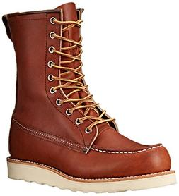 """Red Wing Heritage Men's 8"""" Classic Moc Toe Boot, Oro Legacy,"""