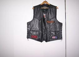 motorcycle gear genuine buffalo leather 8 patch