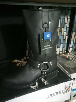 Xelement Motorcycle Harness Boots Leather Black Size 10 New