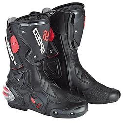 NEW Men's Motorcycle Racing Boots Black US 10.5 EU 44 UK 9.5