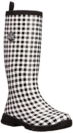 MuckBoots Women's Breezy Tall-W, Black Gingham, 5 M US