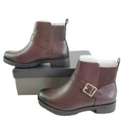 Vionic Mystic Mara Leather Motorcycle Ankle Boots Booties Mo
