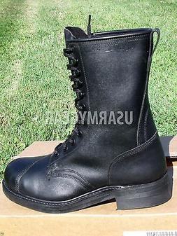 New Black Leather Steel Toe Motorcycle Combat US Military Sa