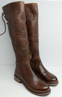 NEW Bed Stu Cambridge Perforated Tall Motorcycle Boots Women