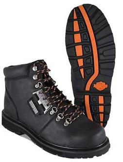 NEW Harley-Davidson Men's Black Leather TEMPLIN Lace Up Moto