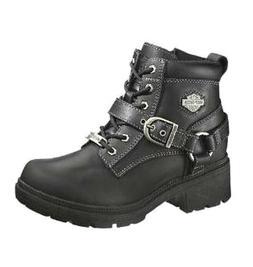 NEW Harley-Davidson® Women's TEGAN Lace-up Black Leather Mo
