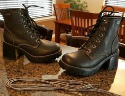 black leather skechers
