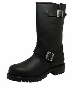 NEW Mens Ride Tecs Engineer Biker Boots Leather Motorcycle W