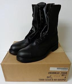 New U.S. Military Steel Toe Leather Climber Lineman Motorcyc