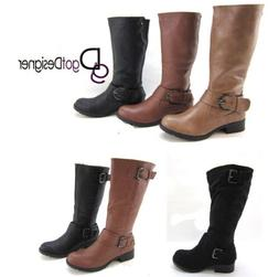 NEW Women's Fashion Shoes Cool Riding Knee High Boots Motorc