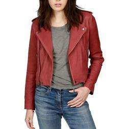 LUCKY BRAND NEW Women's Washed Authentic Leather Motorcycle