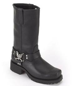 cf85540d2f19 New Womens B.E. Leather Motorcycle Biker Boots Eagle At Ankl