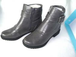 NEW Womens  Life Stride Athena Marvel Gray Motorcycle Boots