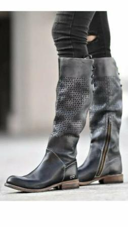 NWT! BED STU Cambridge Knee High Moto Motorcycle Boots Size