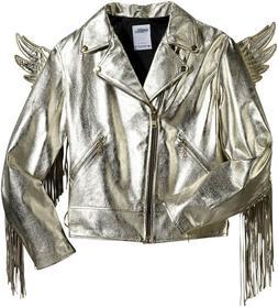 NWT Adidas Jeremy Scott ObyO JS Wings Gold Leather Jacket Bi