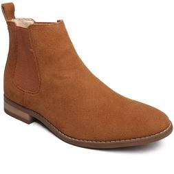 OUOUVALLEY Classic Slip-on Original Suede Chelsea Boots