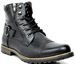 Bruno Marc Men's Philly-3 Black Military Combat Boots - 14 M