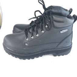 Skechers Men's Pilot Lace Up Leather Medium/Wide Boots  - 10