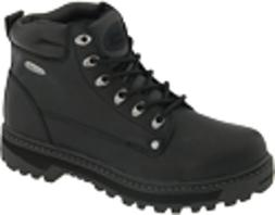 pilot lace leather wide boots