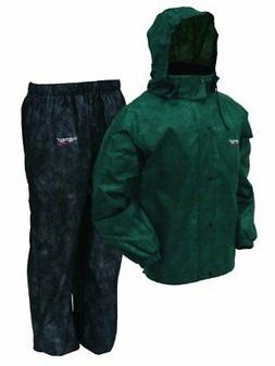 Frogg Toggs Men's All Sports Rain and Wind Suit, Green/Black